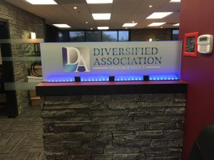 Acrylic Signs lighted indoor lobby sign 300x225